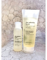 Make-up remover soapy gel with extracts of orchid and chamomile