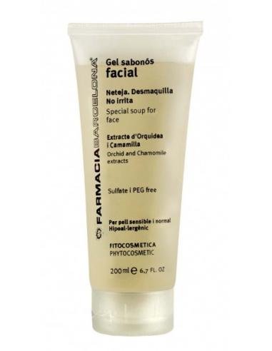Gel jabonoso facial con extracto de Orquídea y Manzanilla 200 ml